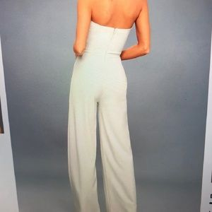 6eb98f18317 Lulu s Pants - NWT! -Lulu s Edith Crisp White Strapless Jumpsuit